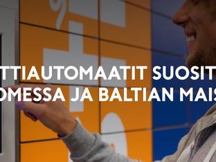 Pakettiautomaatit suosittuja Suomessa ja Baltian maissa