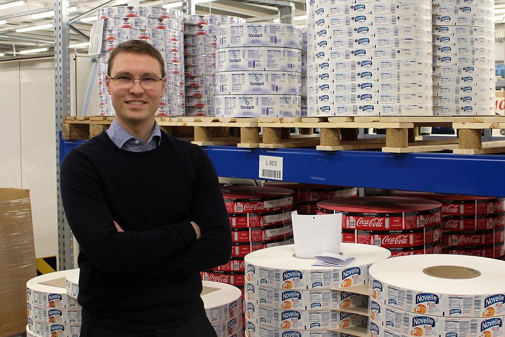 Nordic Labelin kehitysjohtaja Marko Rintanen haluaa kehittää yrityksen asiakaspalvelua muun muassa robotiikan avulla.