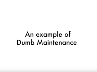 Dumb VS Smart Maintenance