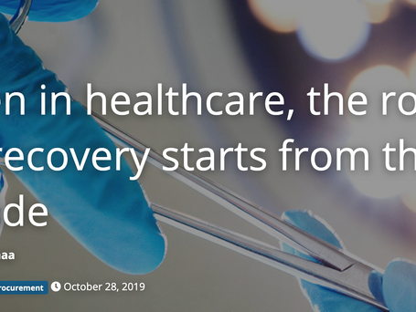 Even in healthcare, the road to recovery starts from the inside