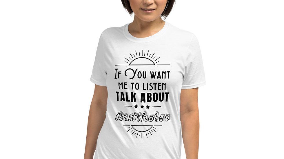 Buttholes Short-Sleeve Unisex T-Shirt