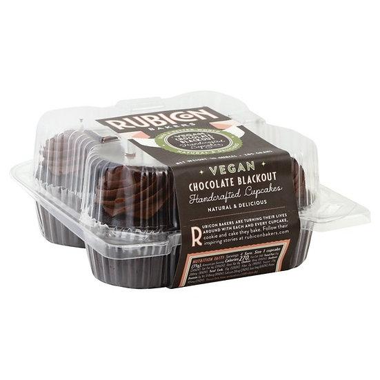 Rubicon Baker's Vegan Chocolate Blackout Cupcakes - 4pk