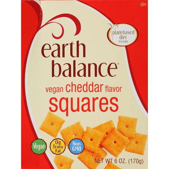 Earth Balance Cheddar Squares