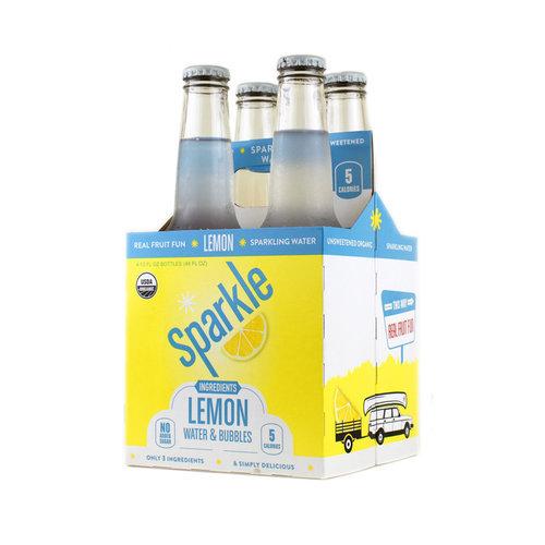 Wiscopop Lemon Sparkling Water - 4pk