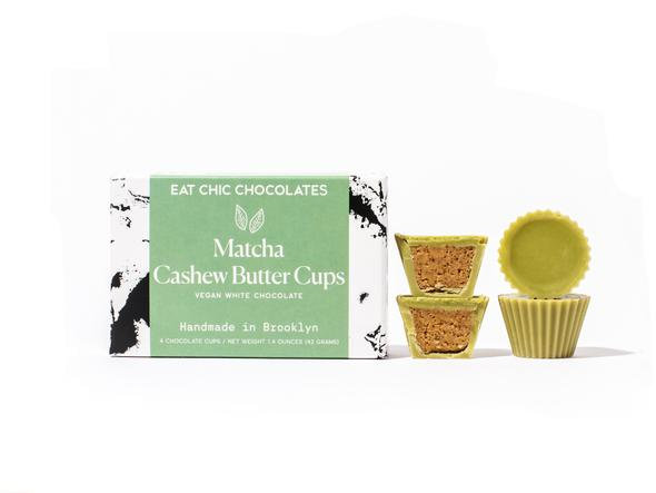 Eat Chic Matcha White Chocolate Cashew Butter Cups