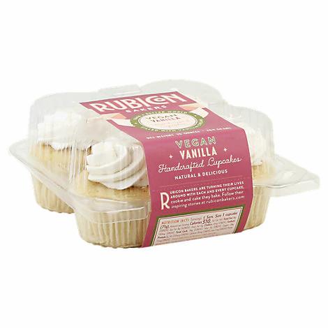 Rubicon Bakers Very Vanilla Vegan Cupcakes - 4pk