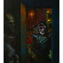 stone of light - 50x36 - oil on a wooden panel - 2020