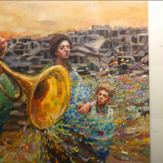 A/B Is it all over - 149x318 cm (169x149 / 149x149) - oil on canvas - 2020