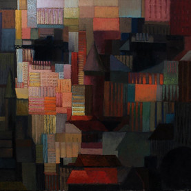 Across The Bridge - Oil on canvas - 100x100 - 2016