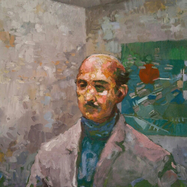 Honoré at Kandinsky and Klee - 60x90 - oil on canvas - 2020