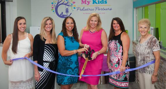 open house, my kids, ribbon cutting