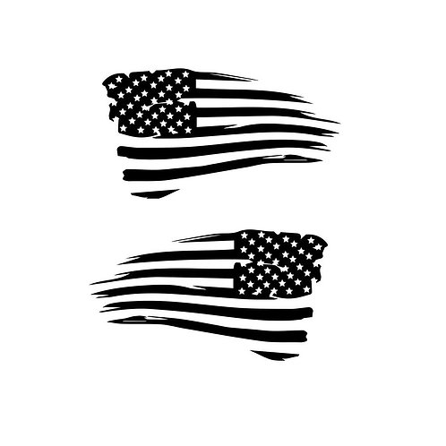 Distressed American Flag - Two Pack in Reverse