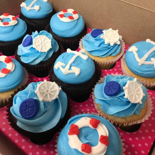 Nautical themed cupcakes