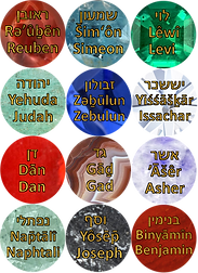 12 tribes of Israel from my book Ahava