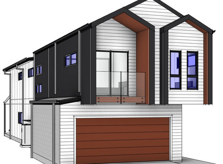 New Facades are being created for our narrow lot homes.
