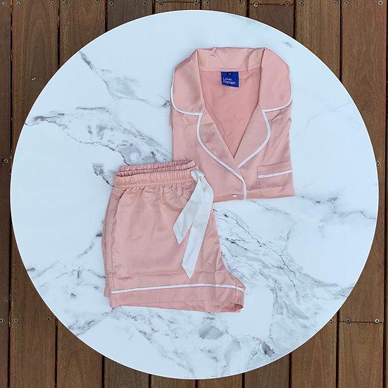 The Original Short Set - Pink/White
