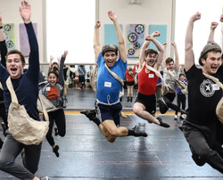 Press photo from Newsies at The Lexington Theatre Company