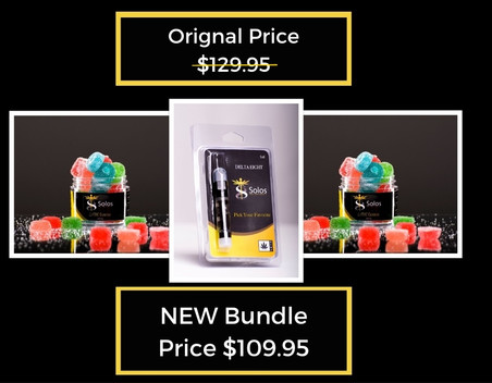 Delta 8 THC gummy and Vape Bundle Packs.