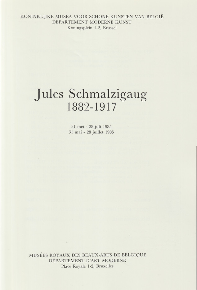 Schmalzigaug Catalogue