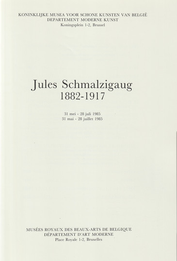 Schmalzigaug Catalogue Bruxelles 1985