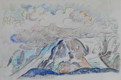 Signac - Mont-Blanc sous les nuages