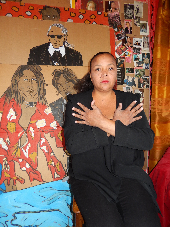 Marie Wolfs dans son atelier