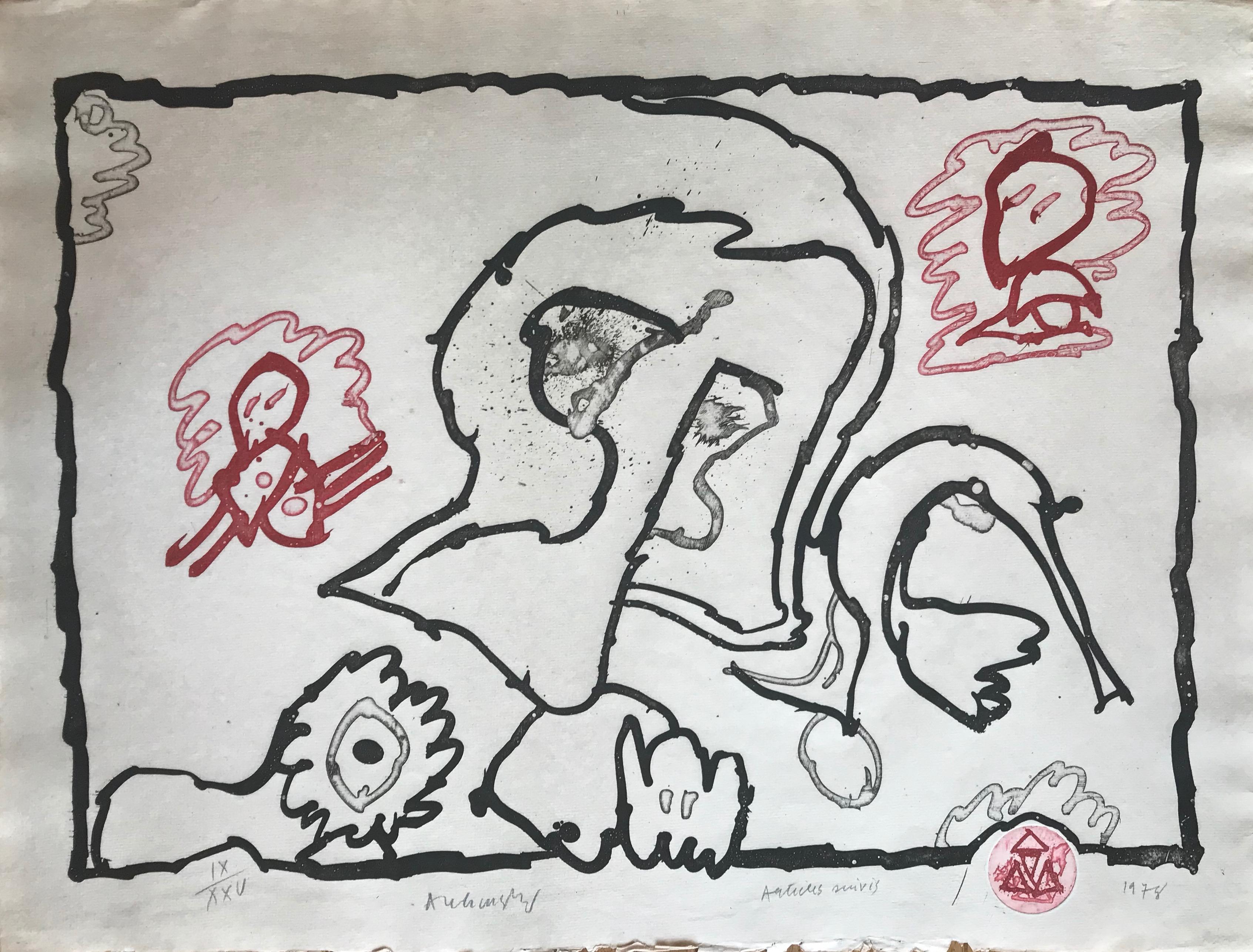 Alechinsky, articles suivis, 1978