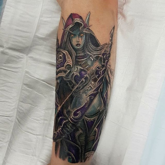 World of Warcraft sleeve in progress by