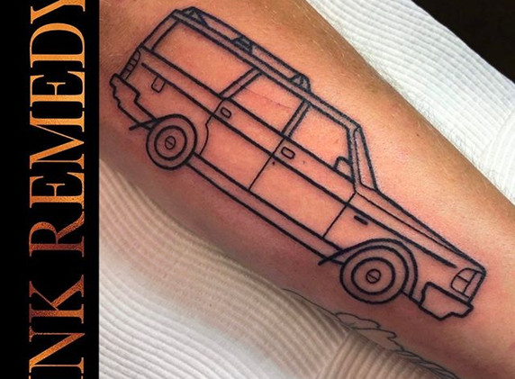 Awesome Volvo Tattoo by Ryan ___ryanwh