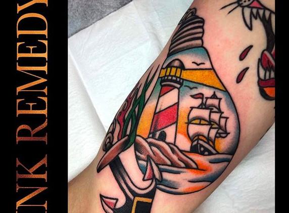 Fun little nautical tattoo by Ryan __rya
