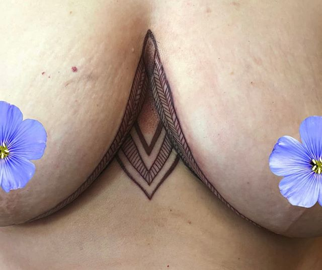 Breast scar cover up done by Rachel a fe