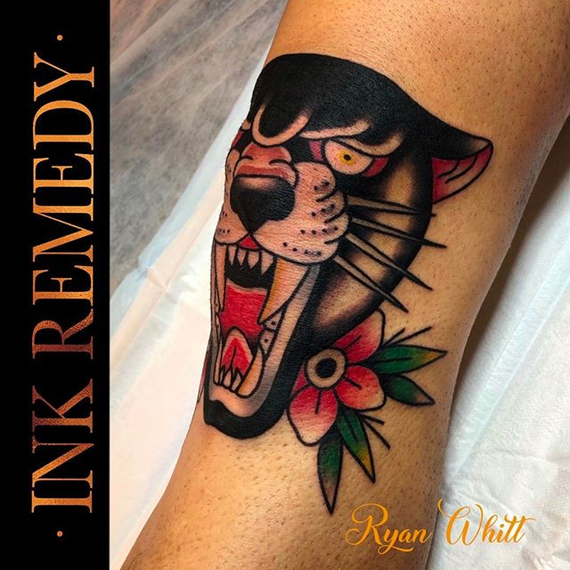 Knee panther by Ryan. Amazing!! ___rya