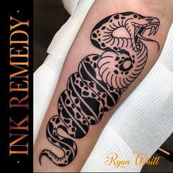Cool snake by Ryan   @ryanwhitttattoos
