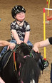 Oakley's first horse riding lesson
