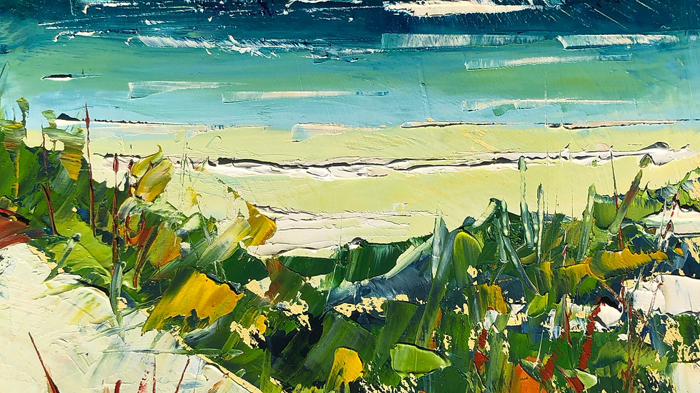 Yanchep Beach through the dunes
