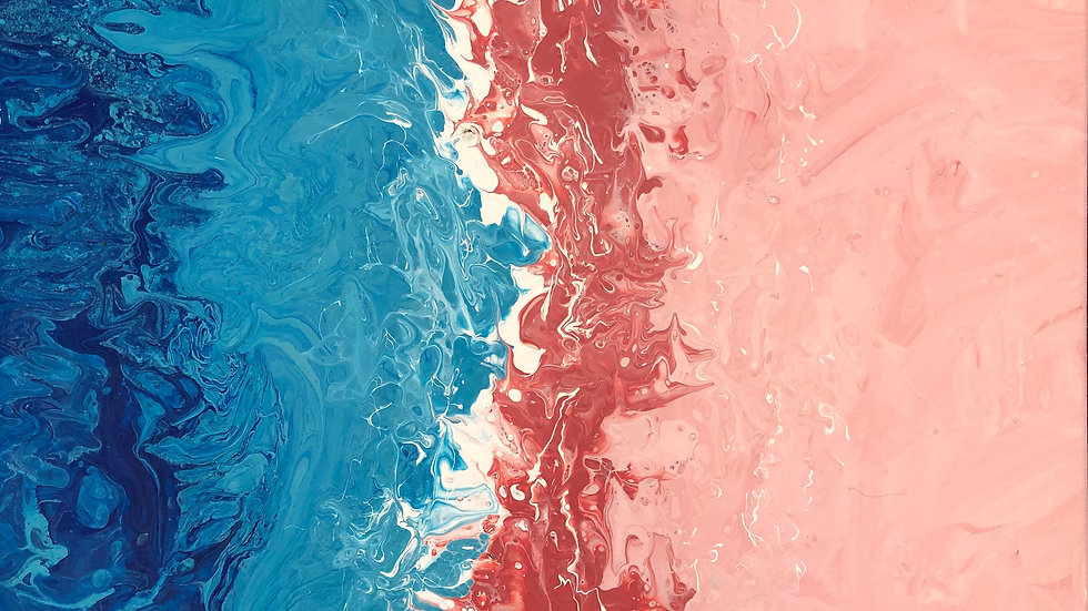 SEASCAPE,PINK AND BLUE