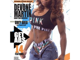 Devone Martin as Cover Girl for Frame Magazine