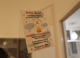 Il primo laboratorio BABY BAND è stato un successone!