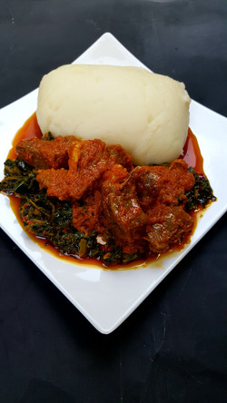Spinach and Pounded Yam