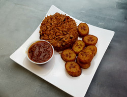 Waakye and Plantains