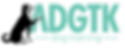 Abbreviated ADGTK logo outlines black V