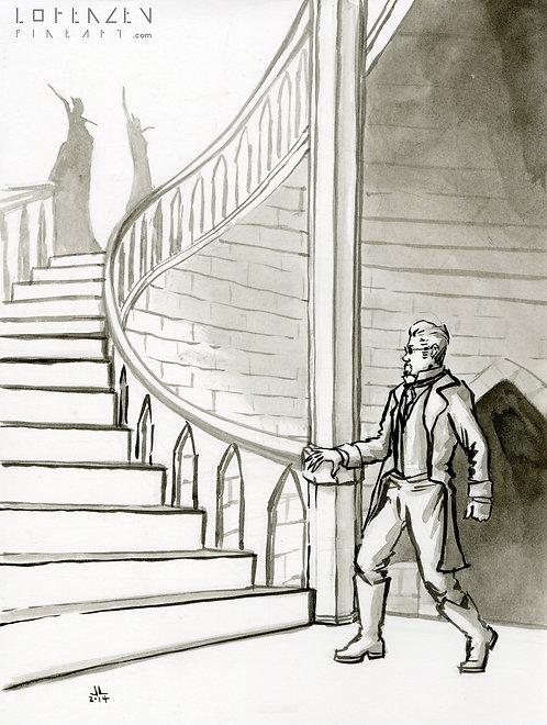 Nosferatu on the Stairs
