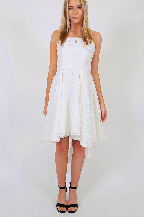 "White French Lace Dress ""Elegance"""