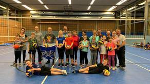 Volleyballtraining mit Eltern am 29.10.2019