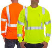 Class 3 Hi-Viz LS Orange or Green T-Shirt
