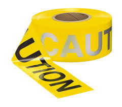 Reflective Day/Night Caution Barrier Tap