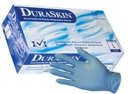 DuraSkin Blue Nitrile Disp. Gloves