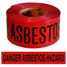 """Red Asbestos Hazard Tape – 3"""" x 1000'"""