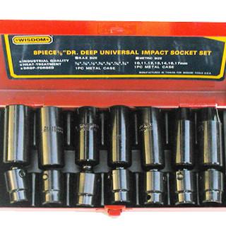 "8 pc 1/2"" Universal Impact Sockets – Sae or Metric"