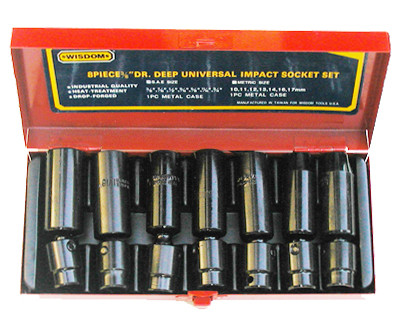 "8 pc 1/2"" Universal Impact Sockets – Sae or Metric"